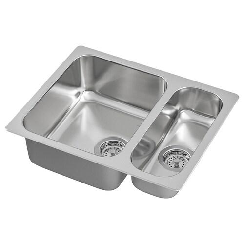IKEA HILLESJÖN 1 1/2 bowl dual mount sink