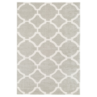 """HILLESTED Rug, low pile, gray/white, 5 ' 3 """"x7 ' 7 """""""