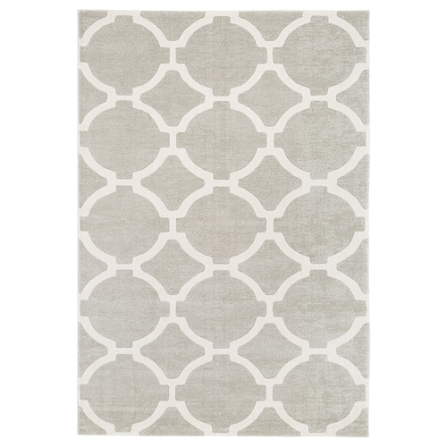 Hillested Rug Low Pile Gray White Ikea