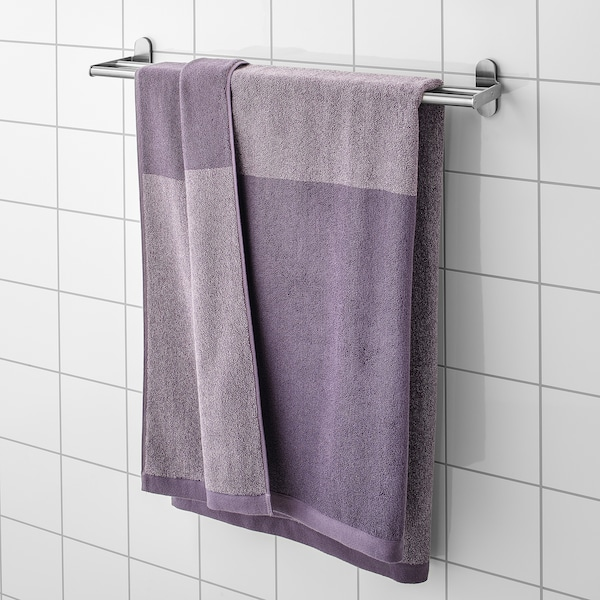 "HIMLEÅN bath sheet lilac/marled 1.64 oz/sq ft 59 "" 39 "" 16.15 sq feet"