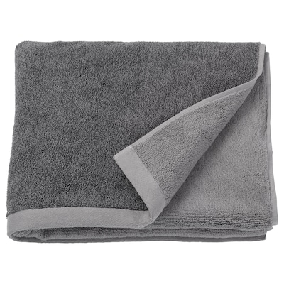 HIMLEÅN Bath towel, dark gray/marled, 28x55 ""