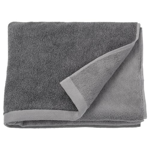"HIMLEÅN bath towel dark gray/marled 1.64 oz/sq ft 55 "" 28 "" 10.55 sq feet"