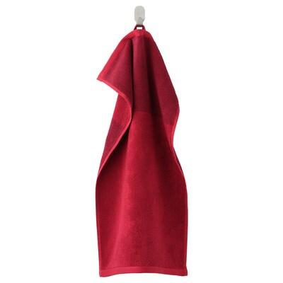 """HIMLEÅN Hand towel, dark red/marled, 16x28 """""""