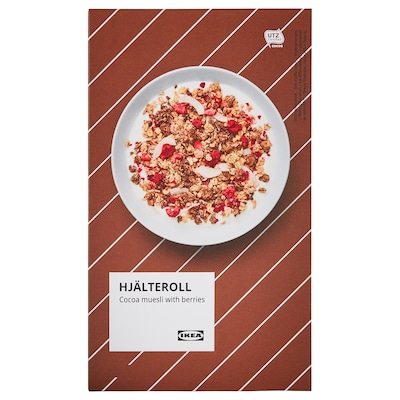 HJÄLTEROLL Muesli, with cocoa and dried berries/UTZ certified, 14 oz