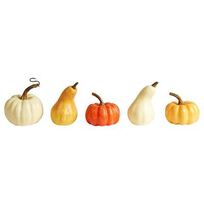 HÖSTPROMENAD Decoration pumpkin, set of 5, orange/red