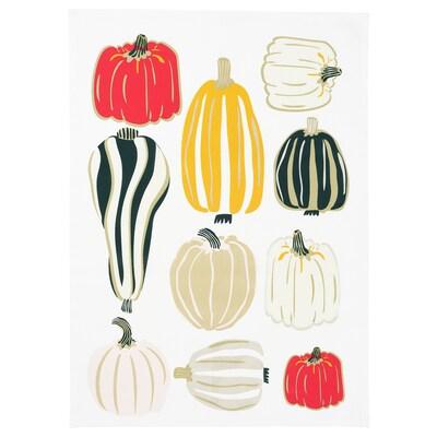 """HÖSTPROMENAD Tea-towel, pumpkin pattern white, 20x28 """""""