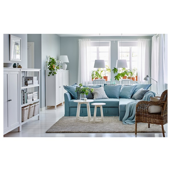 HOLMSUND Corner sofa-bed - Orrsta light blue - IKEA