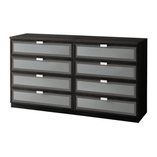 HOPEN 8-drawer dresser IKEA Smooth running drawers with pull-out stop. Adapted for SKUBB box, set of 6 - keeps cabinets and drawers organized.
