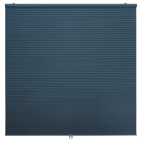 """HOPPVALS room darkening cellular blind blue 64 """" 23 """" 10.23 sq feet"""