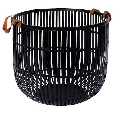 """HURRING basket bamboo black 13 ¾ """" 15 ¾ """""""