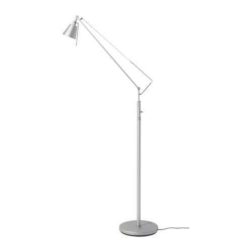 HUSVIK Floor/reading lamp   Two different levels of light; easy to adjust the light intensity according to need.  Halogen bulb included.