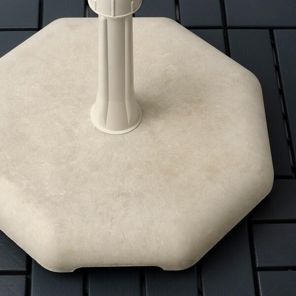 """HUVÖN Umbrella base, gray-beige, 17 3/4x17 3/4 """""""