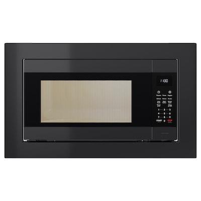 HUVUDSAKLIG Built-in microwave, black Stainless steel