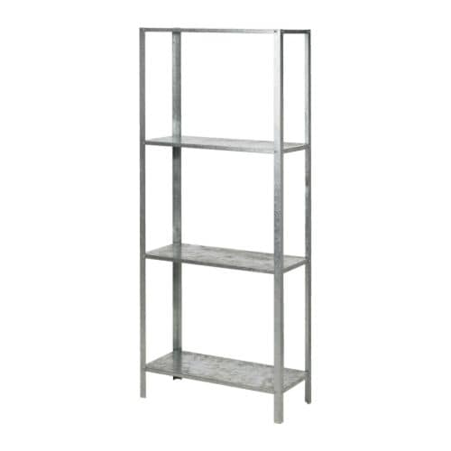 HYLLIS Shelving unit   Suitable for both indoor and outdoor use.  Plastic feet for use on the underside included.