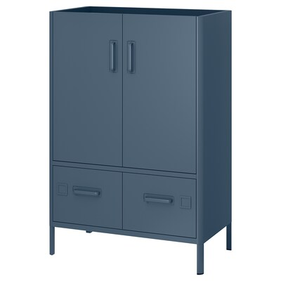 "IDÅSEN Cabinet with smart lock, blue, 31 1/2x46 7/8 """
