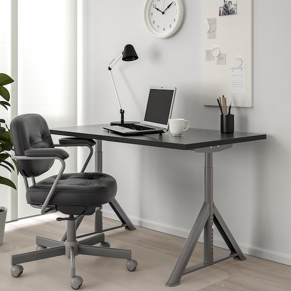 """IDÅSEN Desk, black/dark gray, 47 1/4x27 1/2 """""""