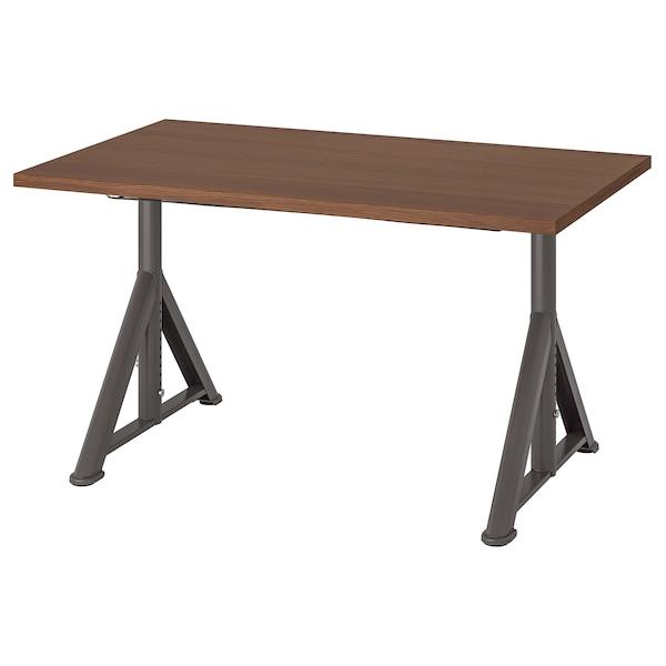 """IDÅSEN Desk, brown/dark gray, 47 1/4x27 1/2 """""""