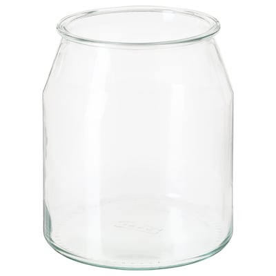 "IKEA 365+ jar round/glass 7 ½ "" 6 ¾ "" 112 oz"