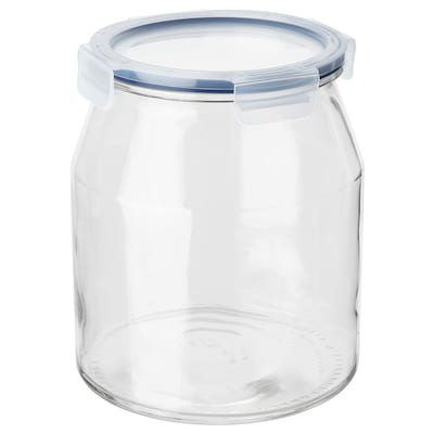 "IKEA 365+ jar with lid glass/plastic 8 "" 7 "" 112 oz"