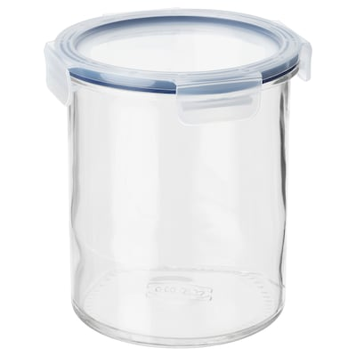 "IKEA 365+ jar with lid glass/plastic 7 "" 6 "" 57 oz"