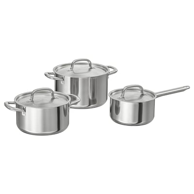 IKEA 365+ Cookware, set of 6, stainless steel