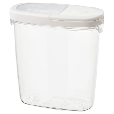 IKEA 365+ Dry food jar with lid, transparent/white, 44 oz