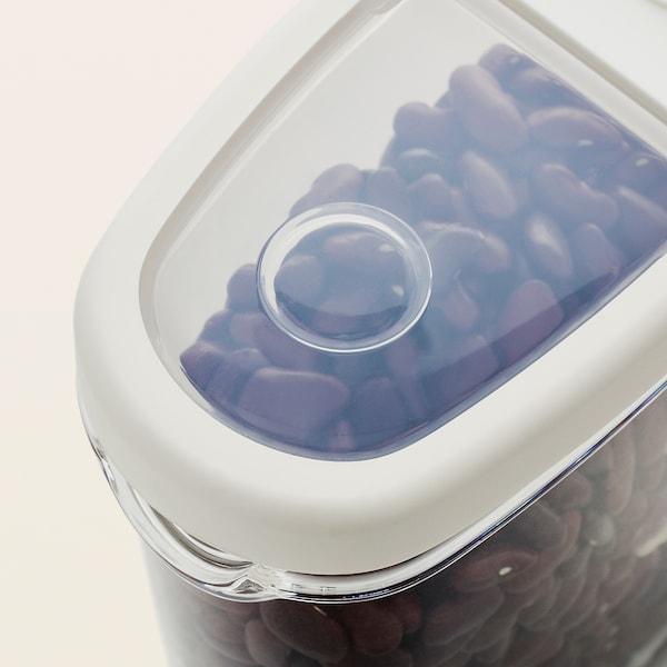 IKEA 365+ Dry food jar with lid, transparent/white, 44 oz