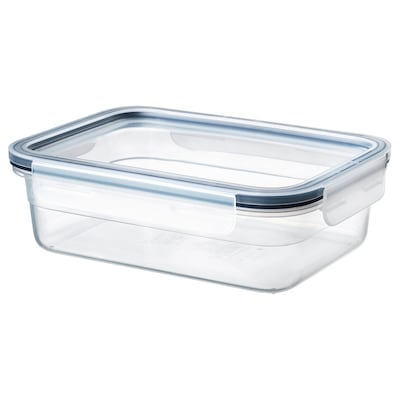 IKEA 365+ Food container with lid, rectangular/plastic, 34 oz