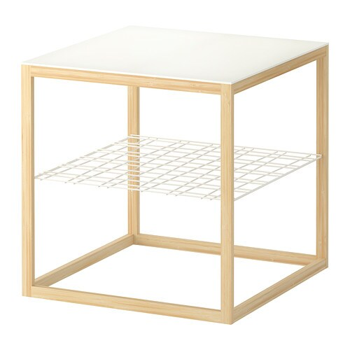 IKEA PS 2012 Side table   Separate shelf for storing magazines, etc.   Keeps your things organized and the table top clear.