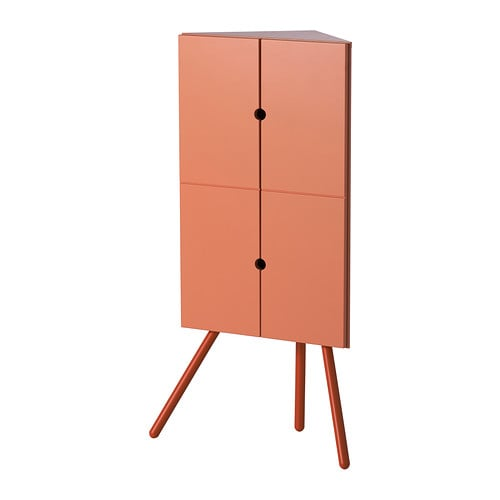 IKEA PS 2014 Corner cabinet   Takes little space but gives plenty of practical storage as this cabinet fits snugly in tight corners.