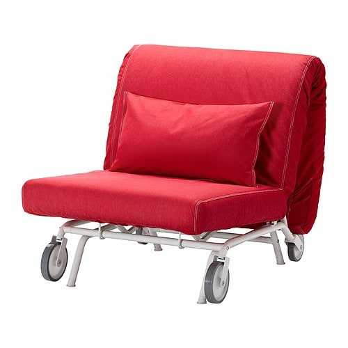 IKEA PS LÖVÅS Chair bed   The casters make the sofa easy to move when cleaning or re-arranging the furniture.  Easily converts into a bed.