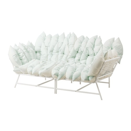 ikea ps 2017 loveseat with 36 pillows white off white ikea. Black Bedroom Furniture Sets. Home Design Ideas