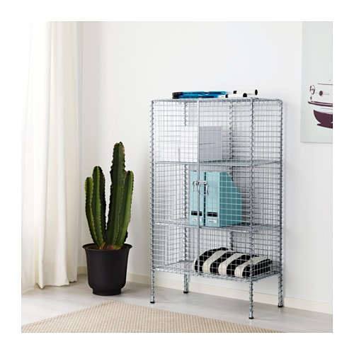 IKEA PS 2017 Storage unit   Easy to assemble without tools or screws.  Steady on uneven floors, thanks to the adjustable feet.