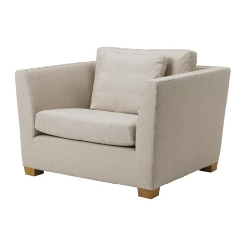 IKEA STOCKHOLM 1.5-seat armchair cover   Easy to keep clean with removable, dry clean only cover.
