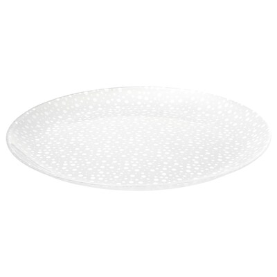 INBJUDEN Plate, frosted glass, 10 1/4 ""