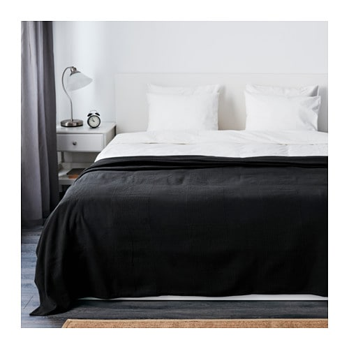 "INDIRA Bedspread   Fits a Full bed with a drop of 22"", a Queen bed with a drop of 14"" and a King bed with a drop of 10""."
