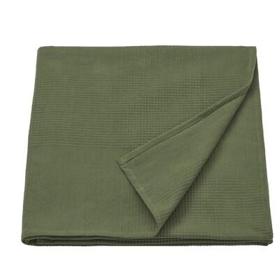 "INDIRA Bedspread, dark green, 91x98 """
