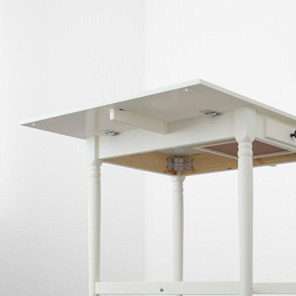 """INGATORP Drop-leaf table, white, 25 5/8/48 3/8x30 3/4 """""""
