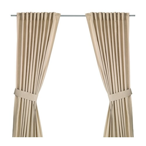 Ingert curtains with tie backs 1 pair