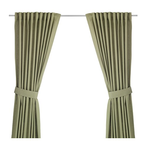 INGERT Curtains With Tie-backs, 1 Pair