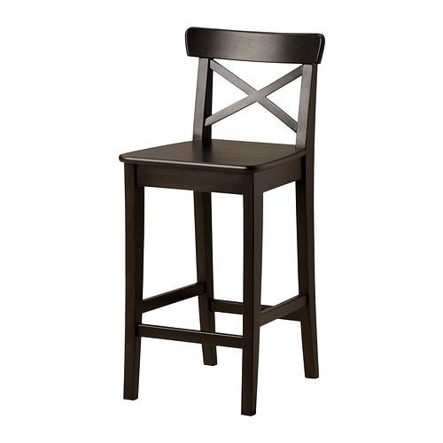 ingolf bar stool with backrest 63 cm ikea. Black Bedroom Furniture Sets. Home Design Ideas