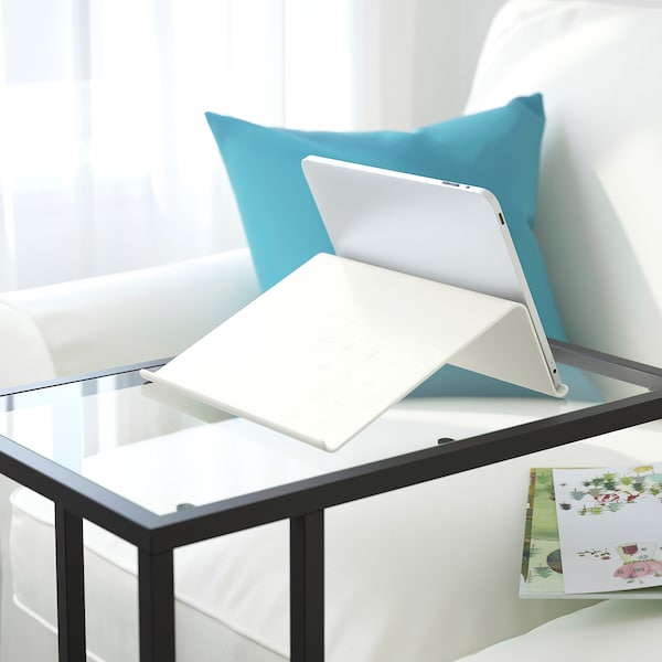 """ISBERGET Tablet stand, white, 9 7/8x9 7/8 """""""