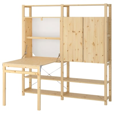 """IVAR 2 section unit with foldable table, 68 7/8x11 3/4-41x70 1/2 """""""