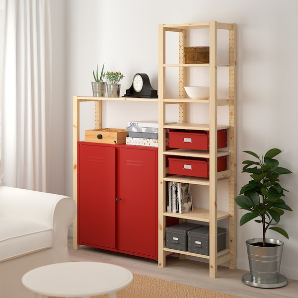 IVAR Shelf Unit W Cabinets/drawers