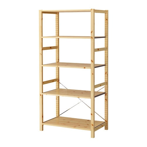 ivar shelving unit untreated solid pine is a durable natural material