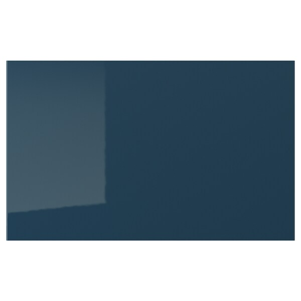 "JÄRSTA Drawer front, high gloss black-blue, 24x15 """