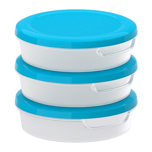 JÄMKA Food container   Stackable; saves space in cabinets and the refrigerator.