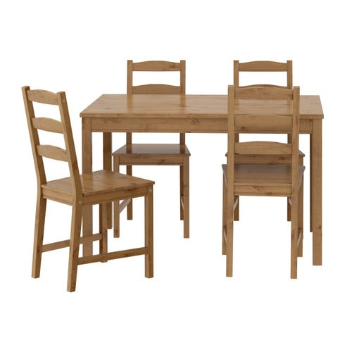 Jokkmokk table and 4 chairs ikea for Table en pin ikea