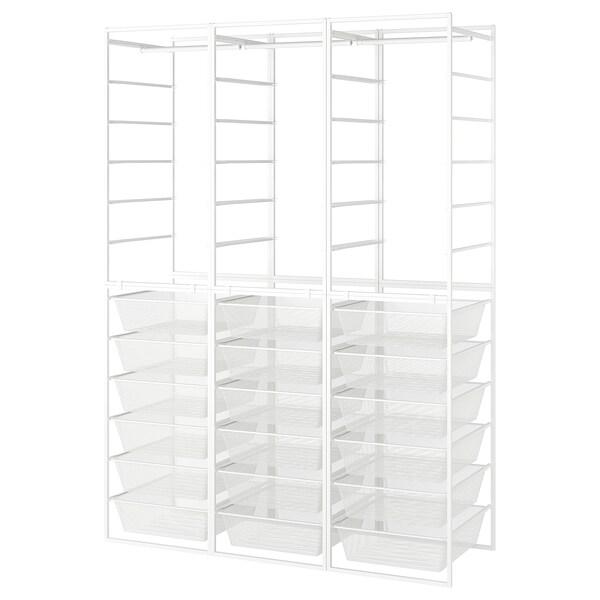 "JONAXEL Frame/mesh baskets/clothes rails, white, 58 1/4x20 1/8x81 1/2 """