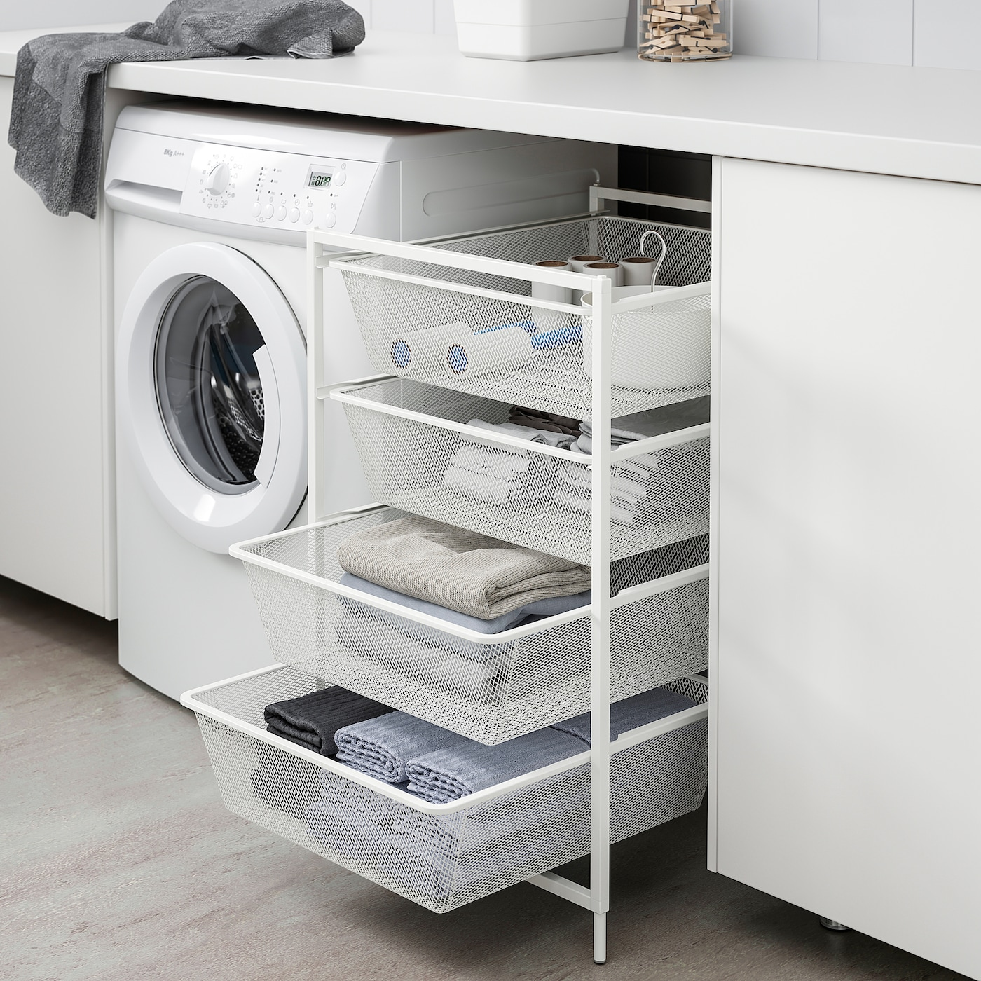 Jonaxel Frame With Mesh Baskets Casters White Ikea